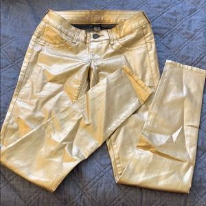 Gold super stretchy jeans